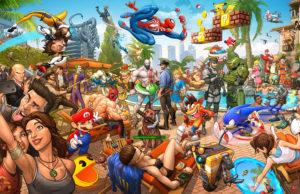 """Известный художник Патрик Браун представил свой масштабный арт """"Легенды видеоигр"""""""