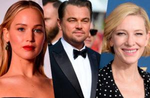 Леонардо ДиКаприо может сыграть с Дженнифер Лоуренс и Кейт Бланшетт в чёрной комедии «Не смотри вверх»