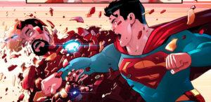 Cупермен против Железного человека: Ирландский художник представил фан-комикс с эпичным противостоянием персонажей Marvel и DC