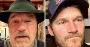Видео: Арнольд Шварценеггер назвал Криса Пратта «Крисом Эвансом» прямо во время прямого эфира в Инстаграме